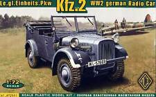 ACE Kfz.2 WWII German radio car Wehrmacht Funkwagen 1:72 Modell-Bausatz NEU PKW