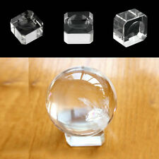 Clear Square Dimple Crystal Ball Display Bases Table Holder Stand Home Gift #D