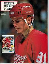 May 1991 Beckett Hockey Monthly Issue #7- Sergei Fedorov Detroit Red Wings