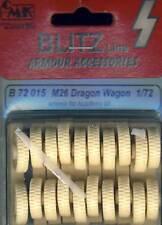 CMK - M26 Dragon Wagon wheels Räder Reifen 1:72 Modell-Bausatz TIPP for Academy