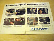 PUBBLICITA' ADVERTISING WERBUNG 1990 PIONEER CD MULTI M-3000 (Q420)