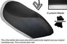 WHITE & BLACK CUSTOM FITS PEUGEOT JETFORCE 50 125 FRONT SEAT COVER