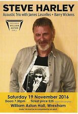 STEVE HARLEY 2016 acoustic tour UK FLYER / mini Poster 8x6 inches