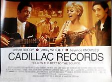 CADILLAC RECORDS ORIGINAL 2008 CINEMA QUAD POSTER BEYONCE ADRIAN BRODY CHESS