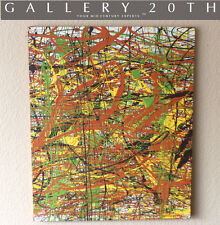 ABSTRACT EXPRESSIONIST ORIGINAL OIL PAINTING! Mid Century Modern Art Vtg Pollock