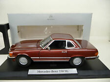 1:18 norev mercedes 350 sl w107 burdeos metal mercedes Classic Edition nuevo New