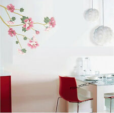 Rose Sharon Floral Tree Art Decal Wall Stickers Paper Home Decor DIY Living Room