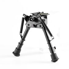 "Metal 6"" to 9"" Adjustable Spring Return Bipod W/Sling Swivel For Rifle Hunting"