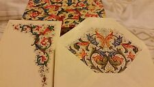 VINTAGE CARDS FLORENCE ITALY MATCHING BLANK CARDS AND ENVELOPES 10 EACH FLORAL