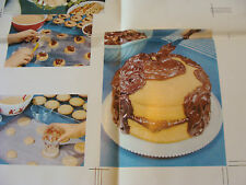 """Vintage Printing Sample Poster: BAKED CAKE & MISC FOOD ITEMS, 33X25""""; #5858C"""