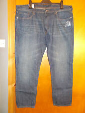 "M&S Tapered Leg 100%Cotton Denim Jeans W38"" L29"" Indigo BNWT"