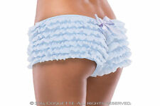 Burlesque Ruffle Knickers Panties 18-22 PLUS SIZE COQUETTE BLACK,BLUE,PINK,RED