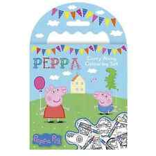Peppa Pig Mini Carry Along Colouring Set Crayons Picture Book Travel George Kits