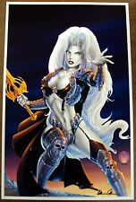 SUPER HOT SEXY LADY DEATH READY FOR BATTLE LIMITED EDITION LITHOGRAPH - SIGNED