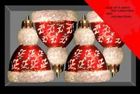 Pack of 4 Santa Hat Christmas Tree Baubles - Christmas Decorations (DP46) A