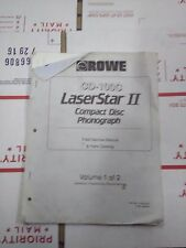cd-100c laserstar 2 compact disk phonograph manual #1
