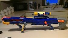Nerf Longshot CS-6 N-Strike dart gun TACTICAL Sniper Rifle Blue scope one clip