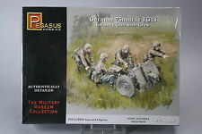 YH080 PEGASUS HOBBIES 1/72 maquette figurine 7510 German 75 mm 1e IG18 Infantry