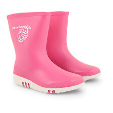 Dunlop Kids Boys Girls Pink Green Wellies Wellington Boots Rainy Snow Waterproof