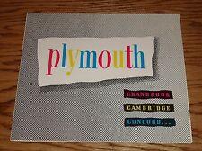 Original 1951 Plymouth Cranbrook Cambridge Concord Sales Brochure 51