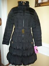 Betsey Johnson Black Down filled Puffer Coat, size XS, Retail $285.00