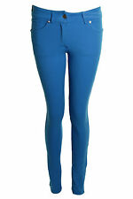 New Ladies Skinny Fit Coloured Stretch Jeans Womens Jeggings 8-14