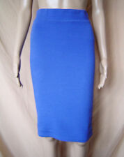 WOMENS NEXT MID-BLUE RIBBED PENCIL SKIRT UK SIZE 6 EU 34