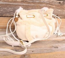 UGG Australia Quinn Small Drawstring Crossbody Cornsilk Sheepskin Bag Purse