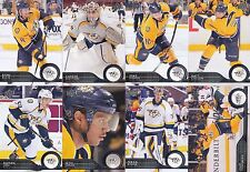 2014-15 Upper Deck Nashville Predators Complete Series 1 & 2 Team Set - 14 Cards