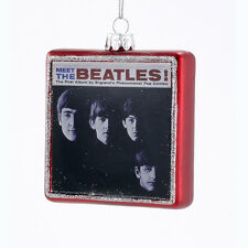 BE4144 3.25 Meet The Beatles Album Cover Christmas Ornament Kurt Adler Fab 4