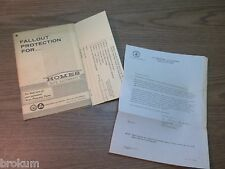 1967 FALLOUT PROTECTION FOR HOMES WITH BASEMENTS FROM US DEFENSE DEPT W/ CARD