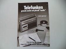 advertising Pubblicità 1978 RADIO TELEFUNKEN CR 800