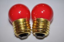 Darkroom RED SAFELIGHT BULBS - Set of 2! NEW! Great for Photo or Medical Labs!