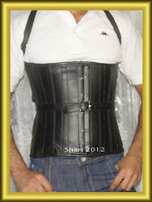 New Men  Stylish Real Black Leather Corset