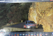 Peugeot 206 WRC Total  x2 Promo Posters Rallye de France / Safari Rally 2001
