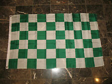3x5 Advertising Checkered Checker Green White flag 3'x5' banner