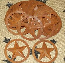 Set of 50 Country Rustic Metal Stars Lot W/Circle Texas Style And Free Shipping