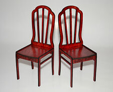 Furniture for Dolls 1:6 Chairs Barbie FR color: red wood lacquer NEW! 2 pcs!