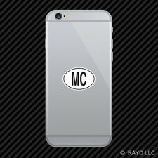 MC Monaco Country Code Oval Cell Phone Sticker Mobile Monacan euro