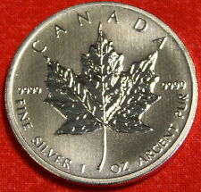 CANADIAN MAPLE LEAF 2012 DESIGN 1 oz .999% SILVER ROUND BULLION COLLECTOR COIN