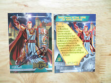 1995 MARVEL METAL IRON MAN CARD SIGNED GEORGE PEREZ ART, WITH POA