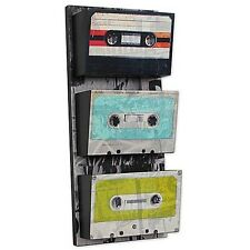 Room Décor Cassette Tape Theme Pockets Vintage Functional Wall Art Music Home