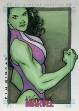 Women of Marvel Series Two Sketch Card by Studio Mia of She-Hulk