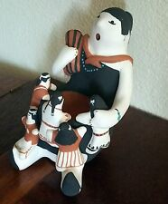 Native American Large Clay Figurine Mother Story Teller ~ Carol Suina ~ Cochiti
