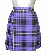 """Ladies Tartan Pleated Wrap Over Buttoned Kilt Skirt 18"""" Inches Skirts Size 8-18"""