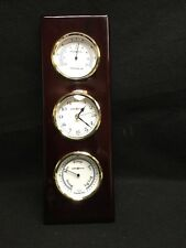 "Howard Miller Maritime Weather Shore Station 15""Wall Clock Barometer Thermometer"