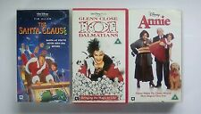 Walt Disney Vhs Bundle Joblot The Santa Claus, 101 Dalmatians, Annie