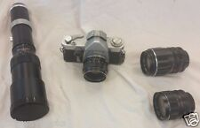 VINTAGE SEARS TLS T L S 35MM FILM CAMERA WITH 28MM, 55MM, 135MM, 400MM LENS