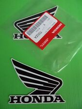 2 x Honda Fuel Tank Wing Decal Wings Sticker BLACK / WHITE **GENUINE HONDA**
