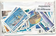 ZBC - PAQUEBOTS : 25 TIMBRES DIFF. OBLI. Ts PAYS